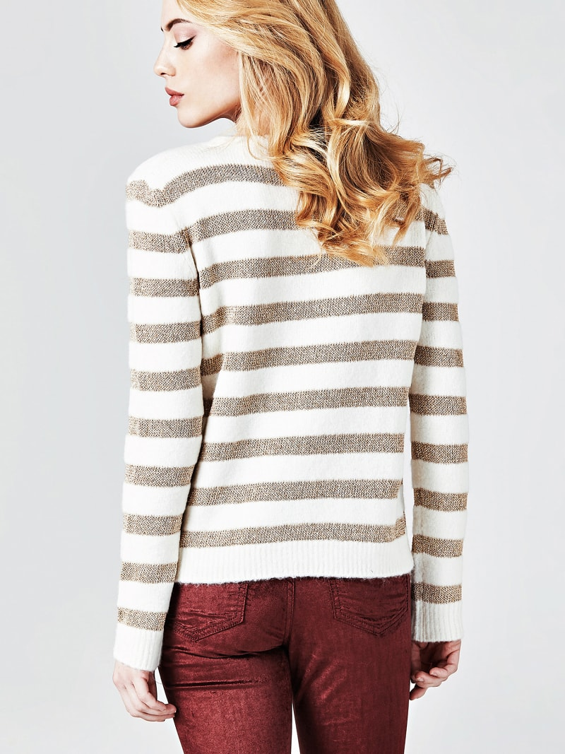 STRIPE MOTIF SWEATER image number 2