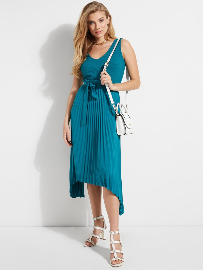 LONG SLEEVELESS DRESS image number 1