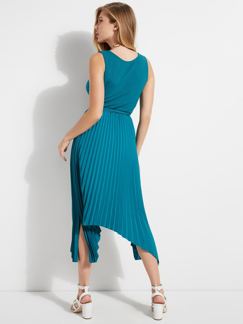 LONG SLEEVELESS DRESS image number 3