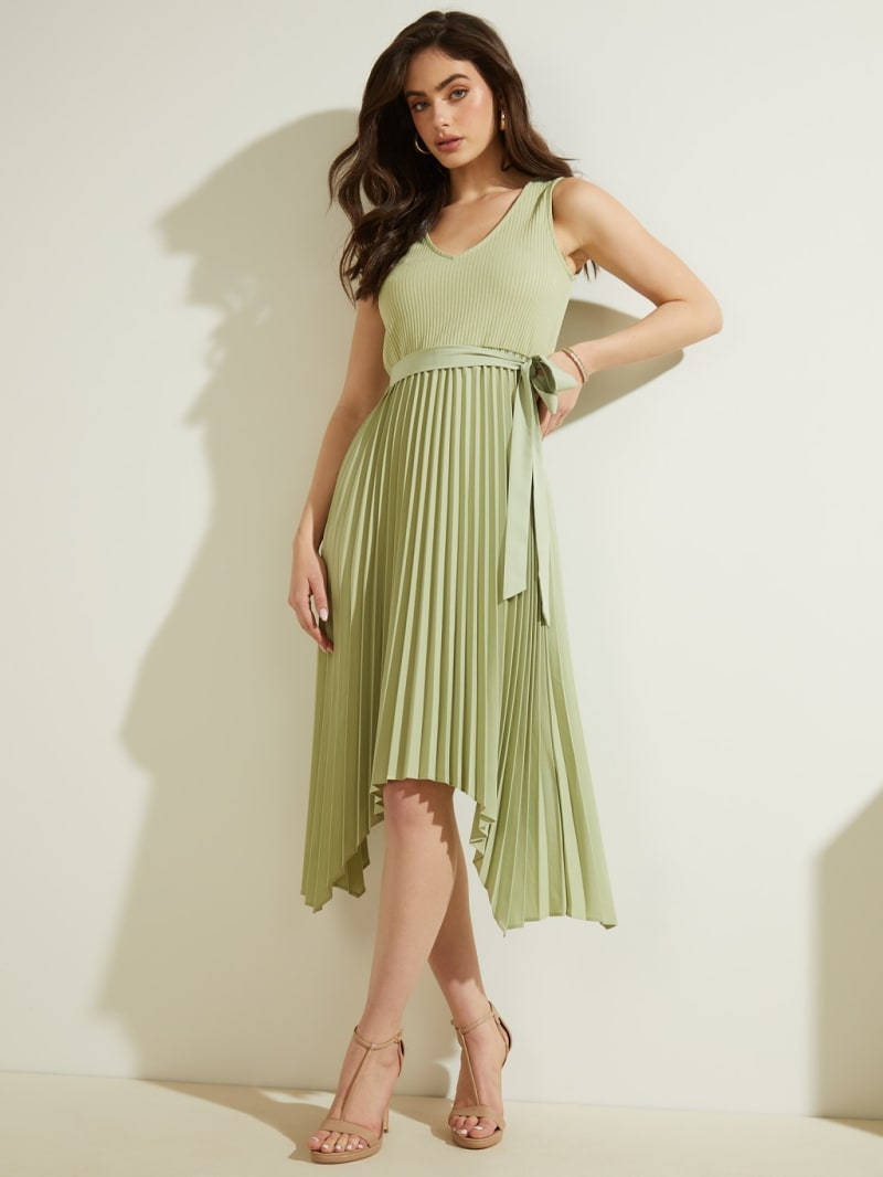 MIDI SLEEVELESS DRESS image number 1