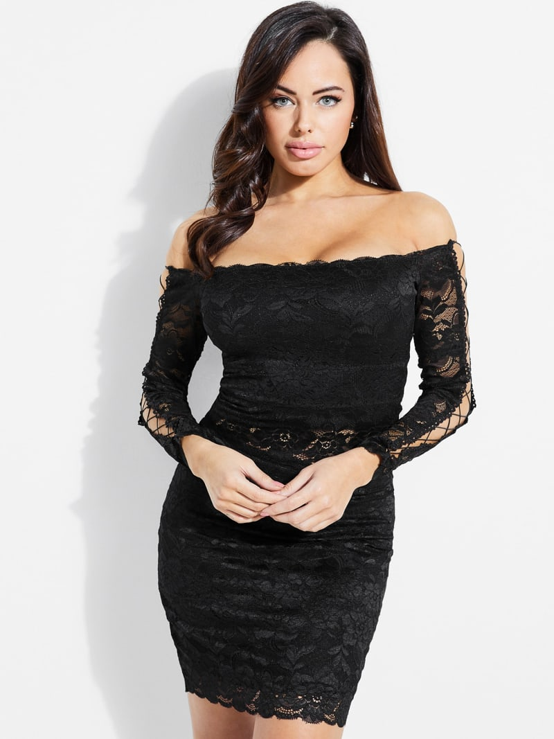 LACE TOP WITH CORSET DETAIL image number 0