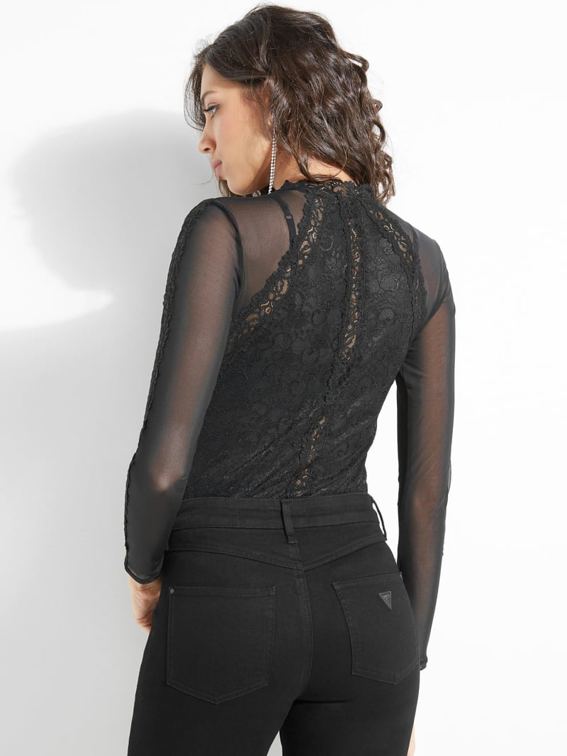 TOP WITH LACE DETAILS image number 3