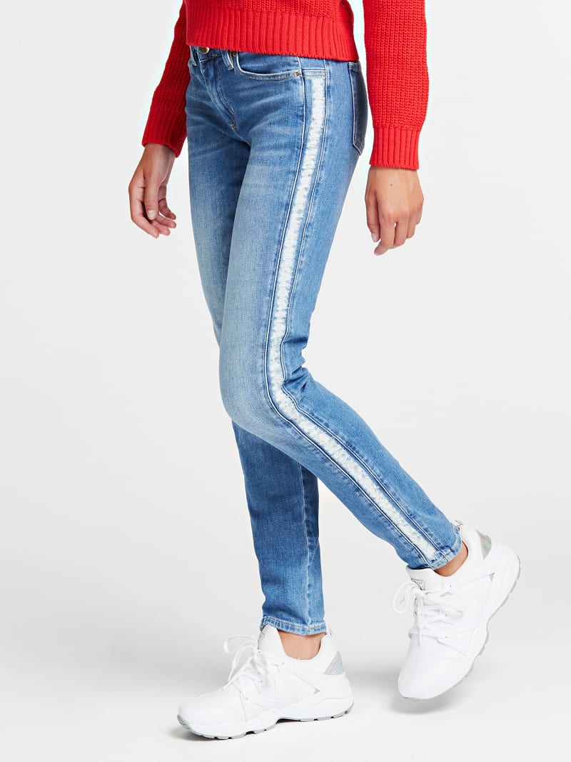 SKINNY JEANS WITH SIDE STRIPS image number 0