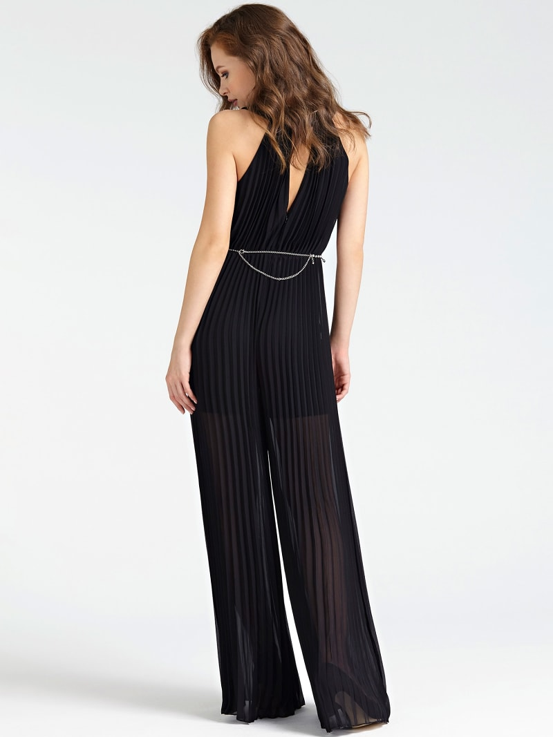 WIDE-FIT SPLIT DETAIL LACE JUMPSUIT image number 1