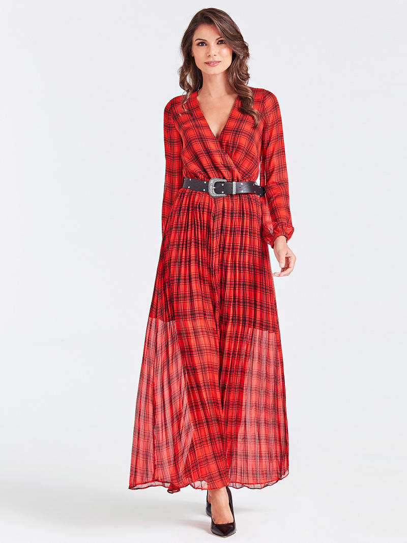 LONG STRIPE MOTIF DRESS image number 0