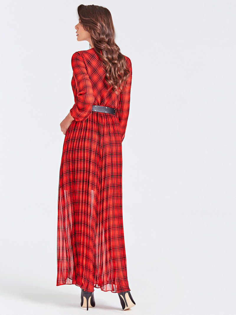 LONG STRIPE MOTIF DRESS image number 1