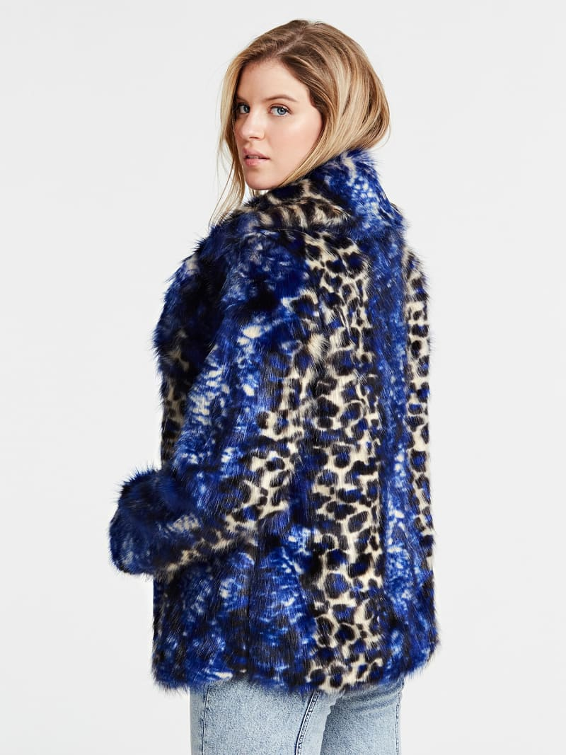 FAUX FUR JACKET WITH CLASSIC LAPEL image number 2