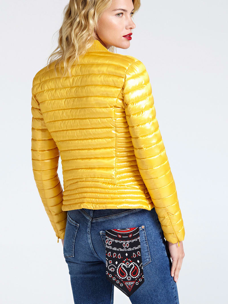 PATENT-LOOK PADDED JACKET image number 2