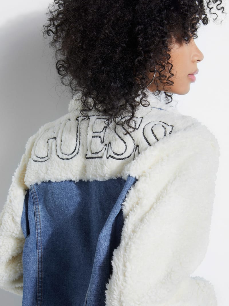 DENIM AND FAUX FUR JACKET image number 2
