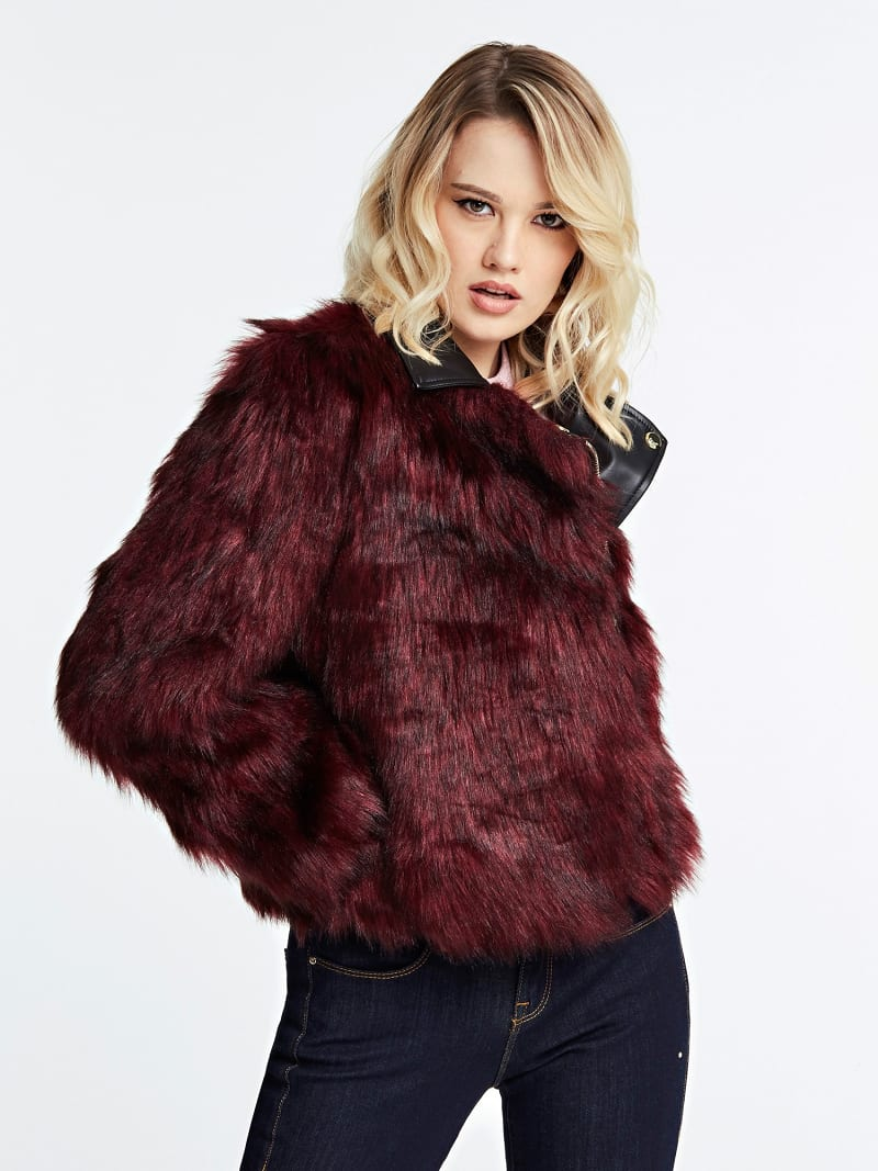 FAUX FUR JACKET image number 0