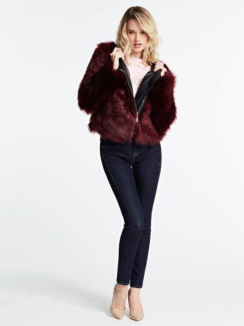 FAUX FUR JACKET image number 1