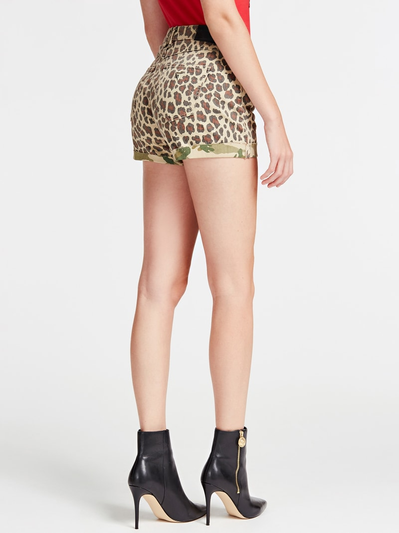SHORT JEANS STAMPA ANIMALIER image number 2