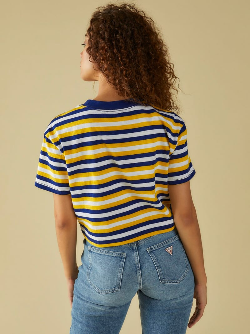 CROP TOP WITH STRIPES AND LOGO image number 3