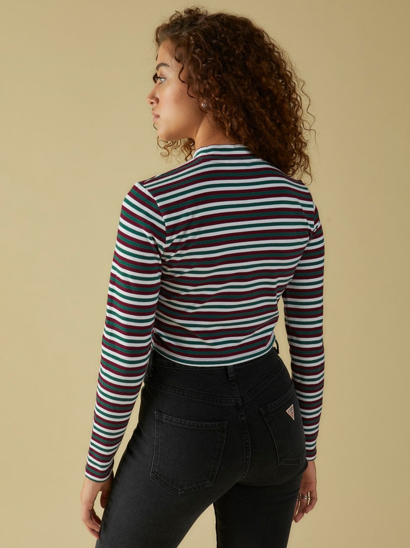 TOP WITH STRIPES AND LOGO image number 3