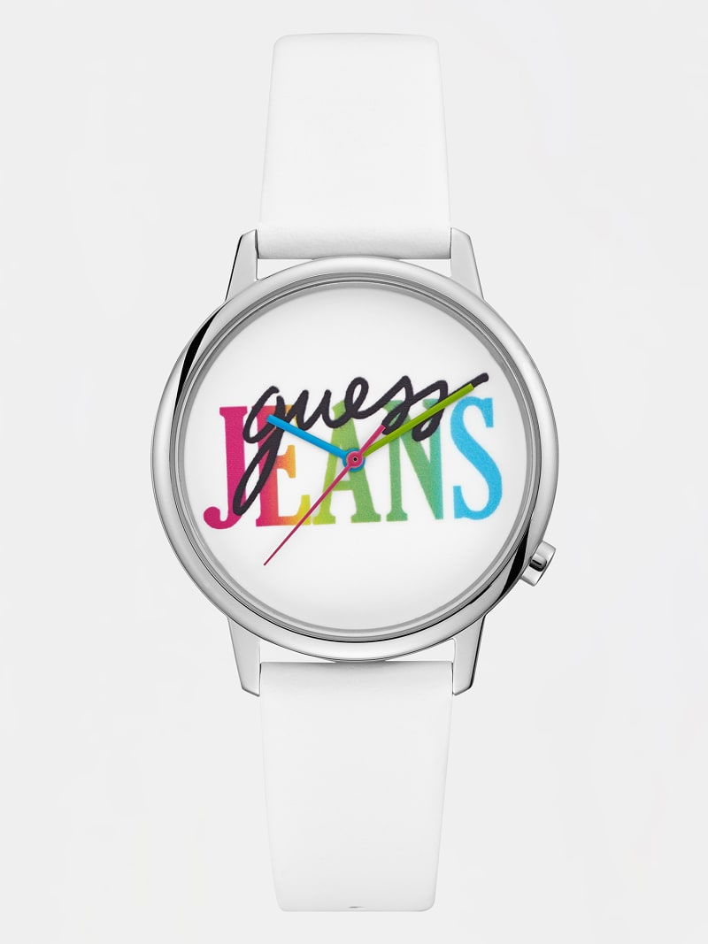 MULTI-COLOUR LOGO ANALOGUE WATCH image number 0