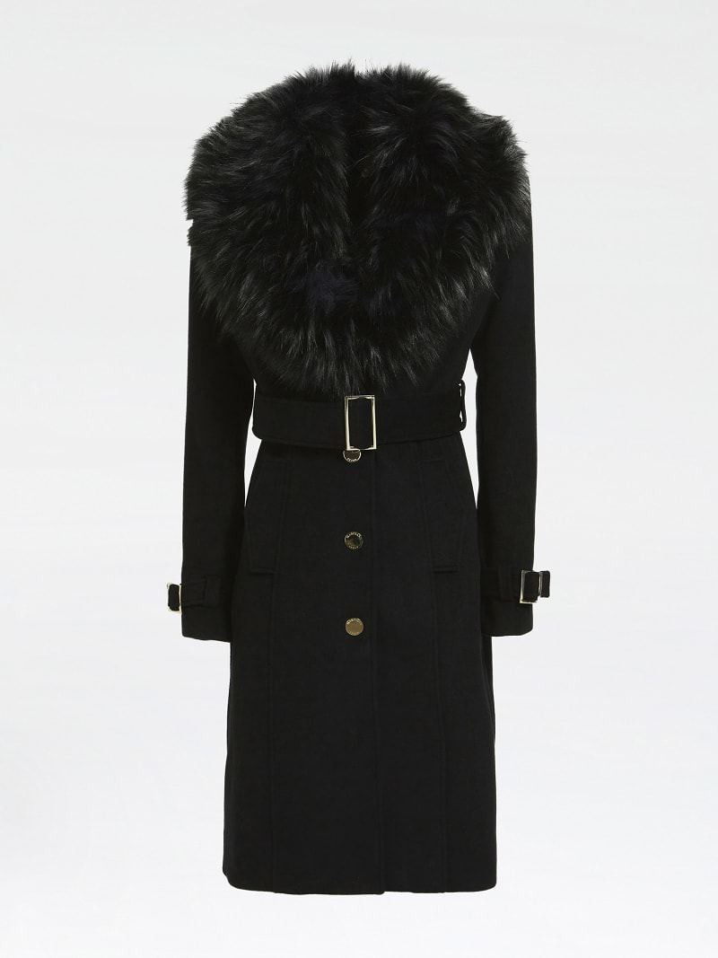 MARCIANO FAUX FUR COAT image number 4