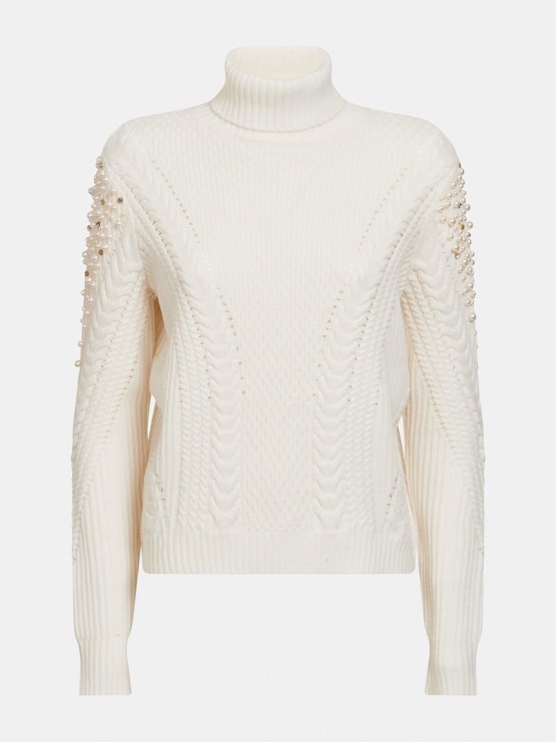 MARCIANO PEARLS SWEATER image number 4
