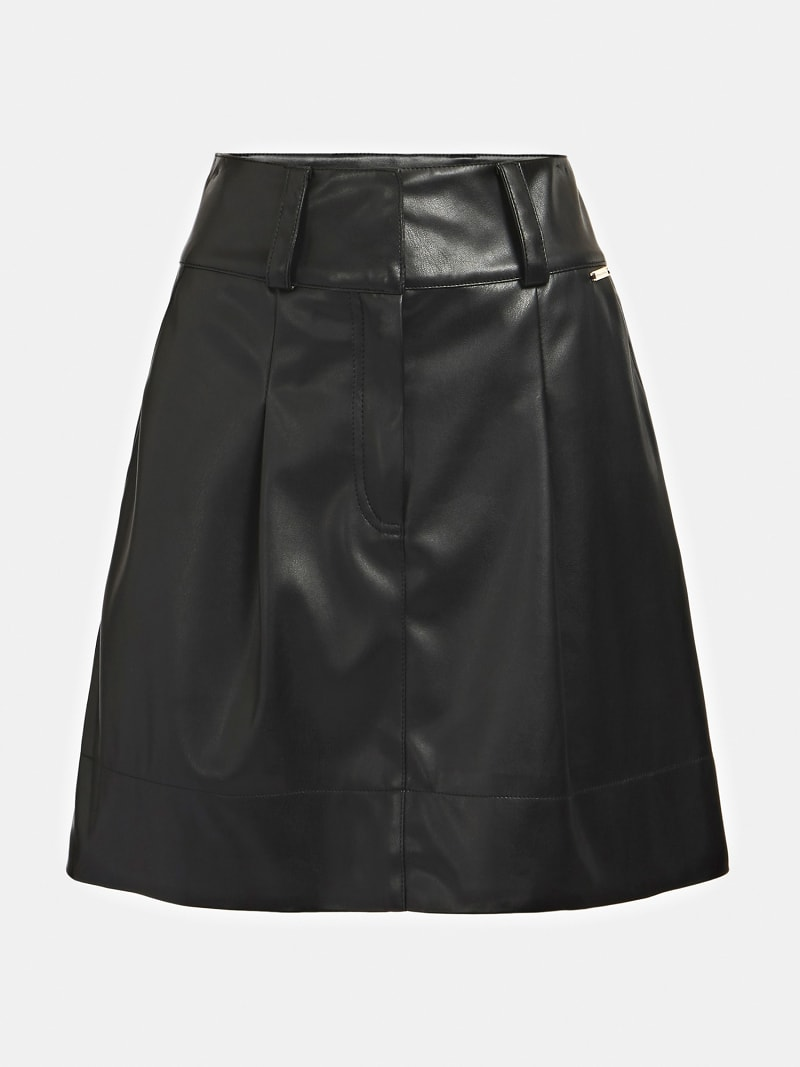 MARCIANO FAUX LEATHER SKIRT image number 3
