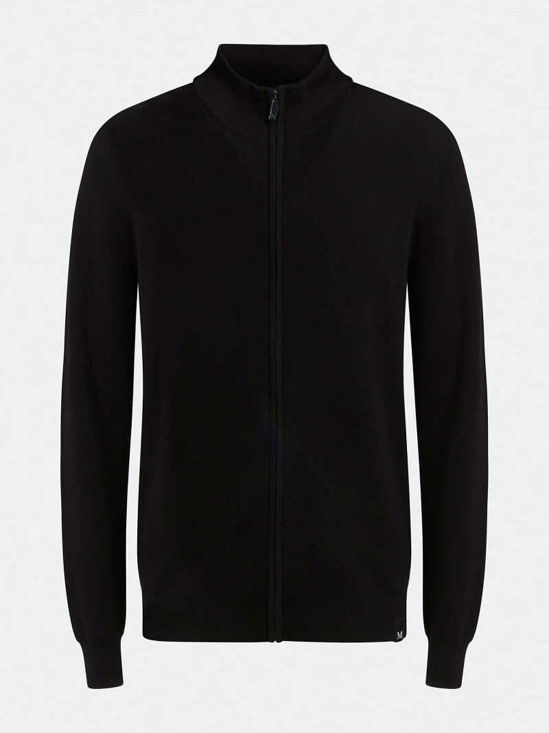 MARCIANO ZIPPER RIB SWEATER image number 3