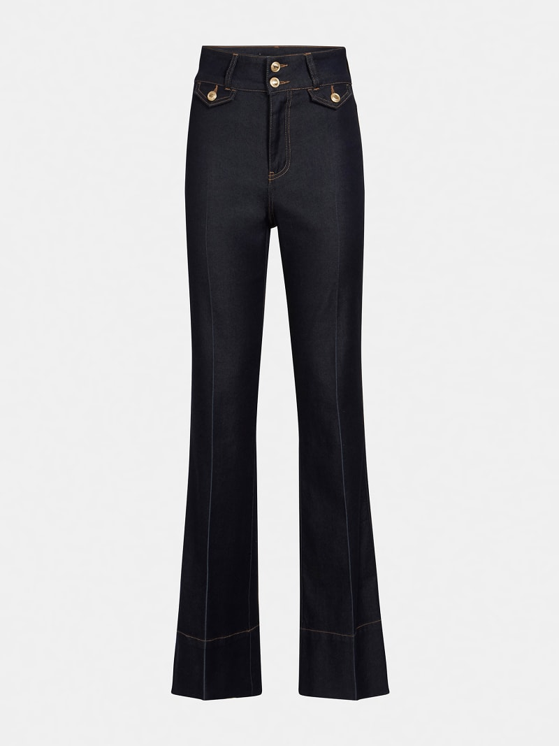 MARCIANO FIT AND FLARE DENIM PANT image number 4
