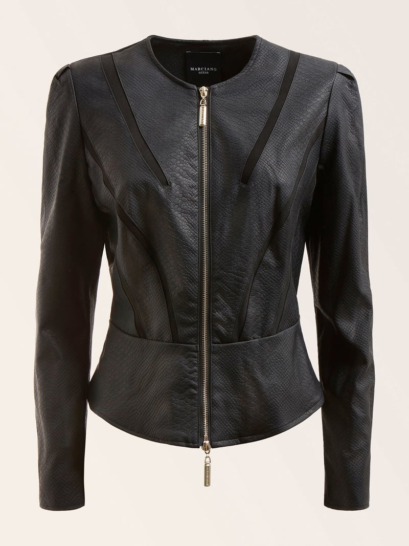 MARCIANO FAUX LEATHER JACKET image number 4