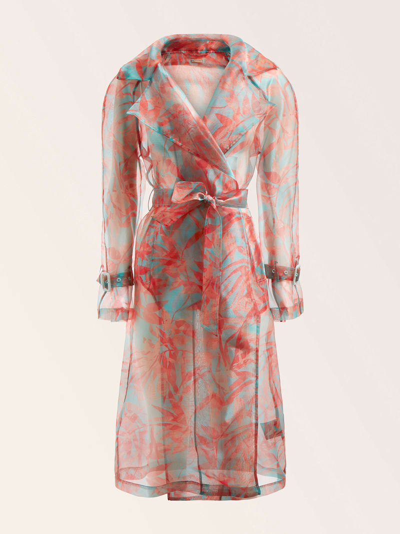 MARCIANO FLORAL PRINT TRENCH image number 4