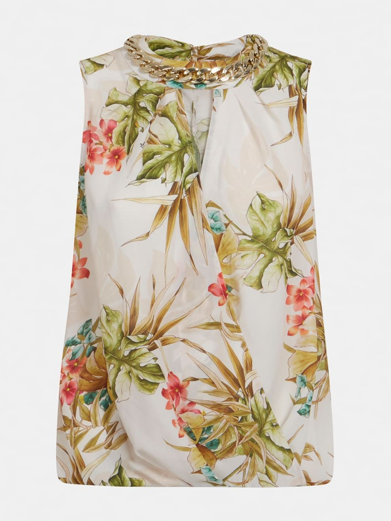 MARCIANO FLORAL PRINT TANK TOP image number 4