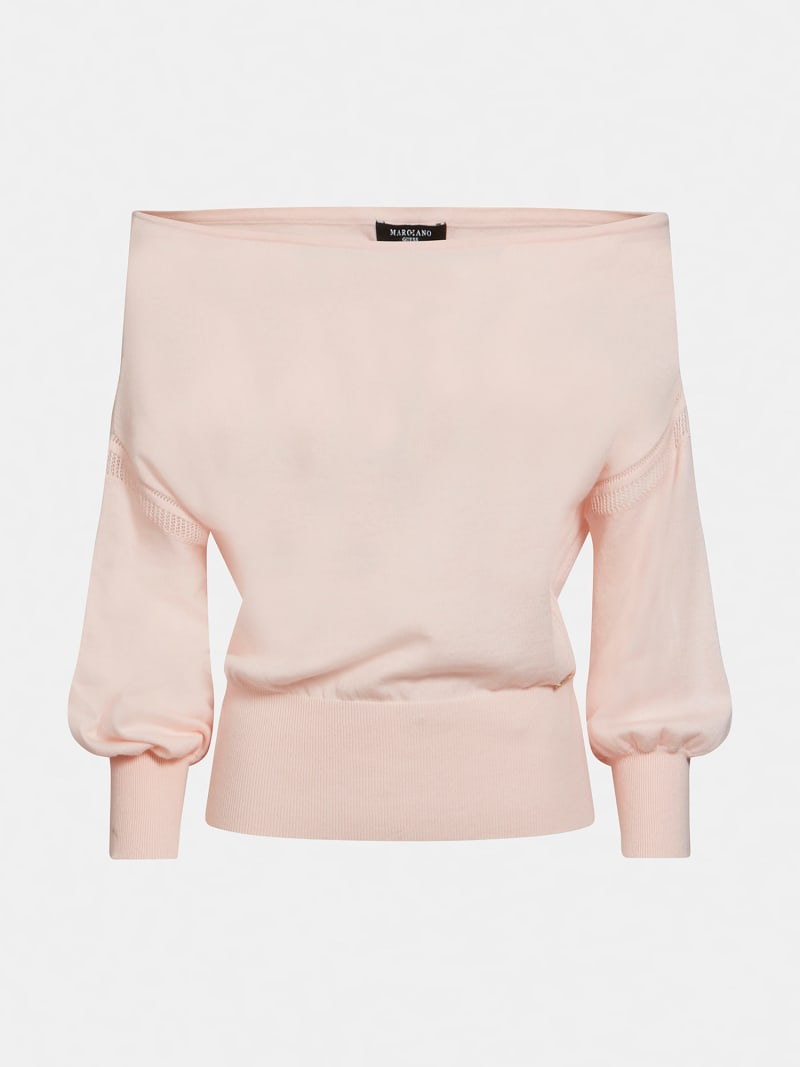 MARCIANO OFF-SHOULDER SWEATER  image number 4