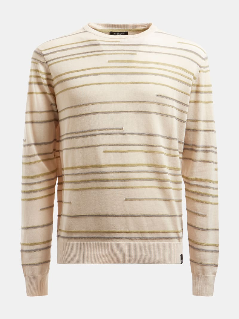 MARCIANO STRIPED SWEATER image number 3