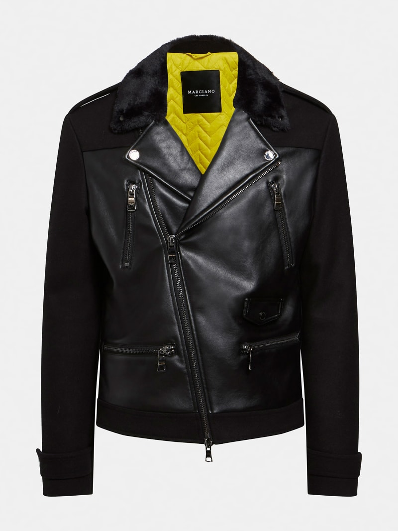 MARCIANO COATED-LOOK JACKET image number 4