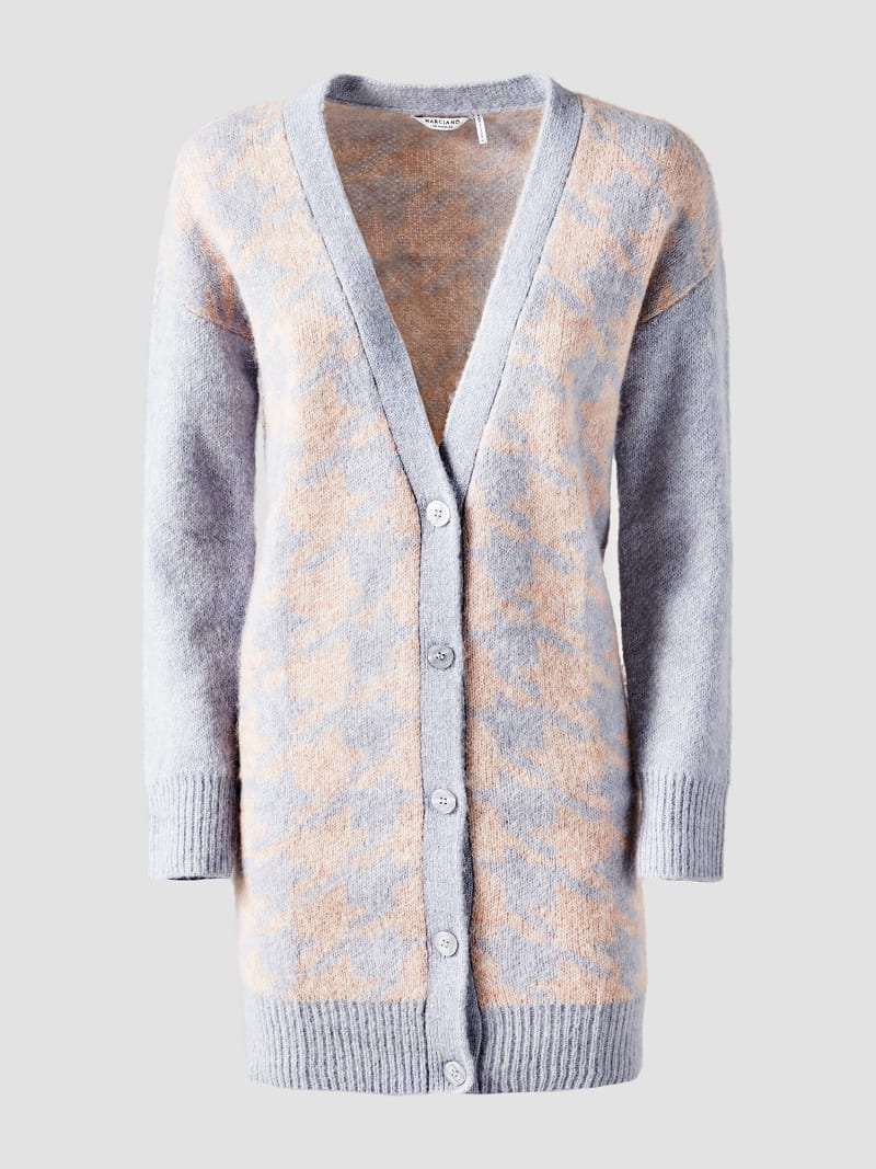 MARCIANO GEOMETRIC PATTERN CARDIGAN image number 3