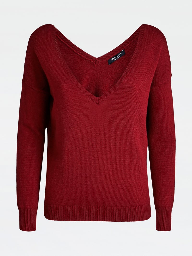 MARCIANO V NECK SWEATER image number 3