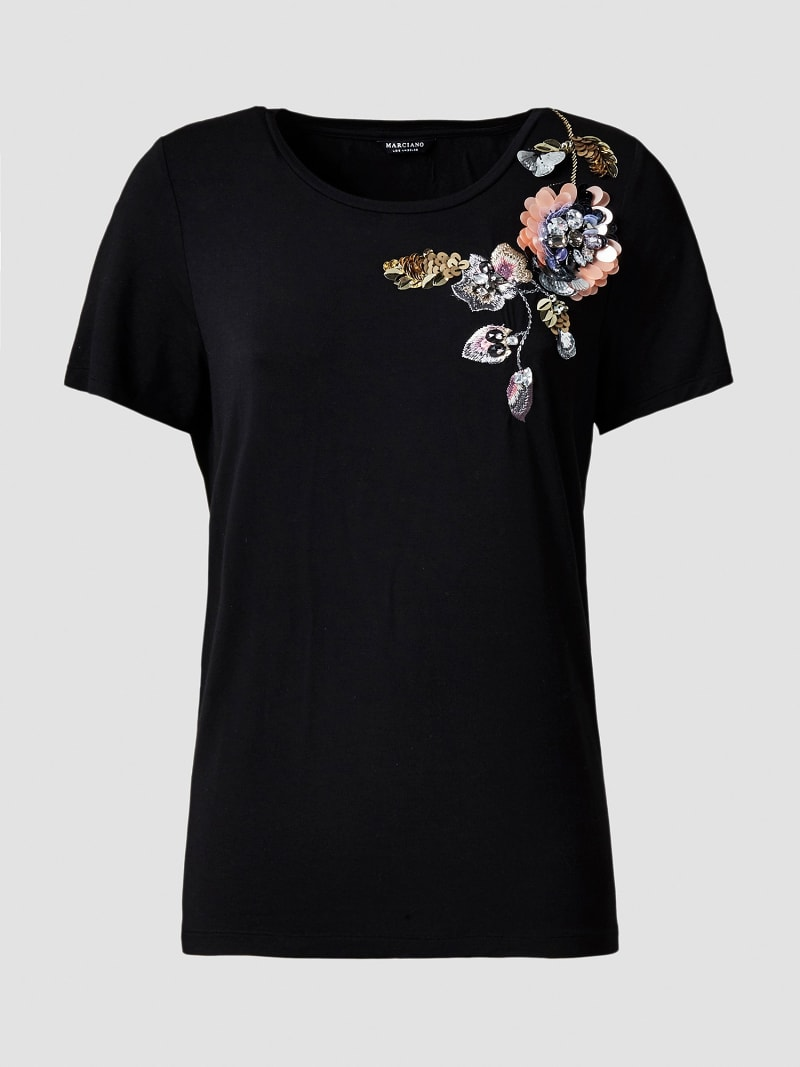 MARCIANO T-SHIRT WITH APPLIQUÉS image number 3