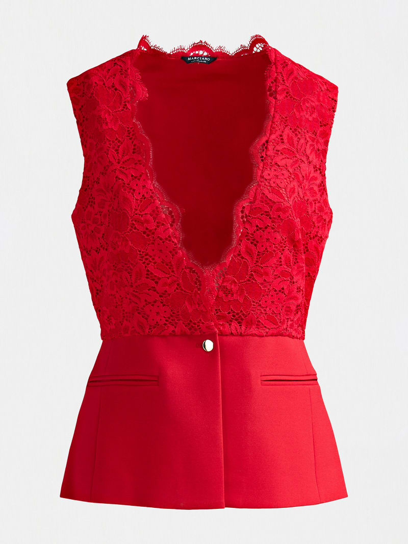 MARCIANO LACE TOP image number 5