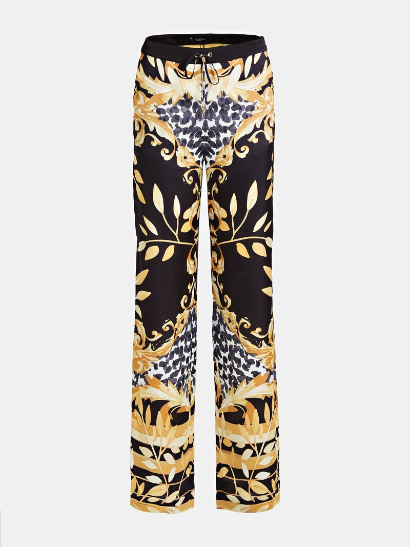 PANTALON MARCIANO FANTAISIE FEUILLES image number 3