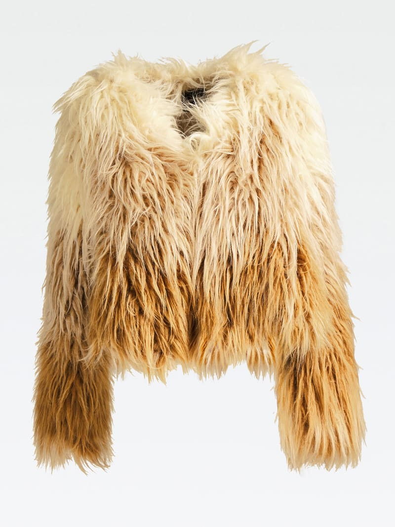 MARCIANO FAUX FUR JACKET image number 3