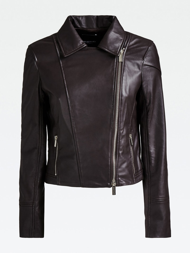 MARCIANO LEATHER JACKET FRINGES image number 3