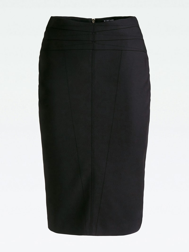 MARCIANO PENCIL SKIRT WITH BACK SLIT image number 3