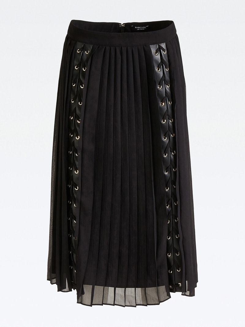MARCIANO PLEATED SKIRT WITH LACE UP image number 3