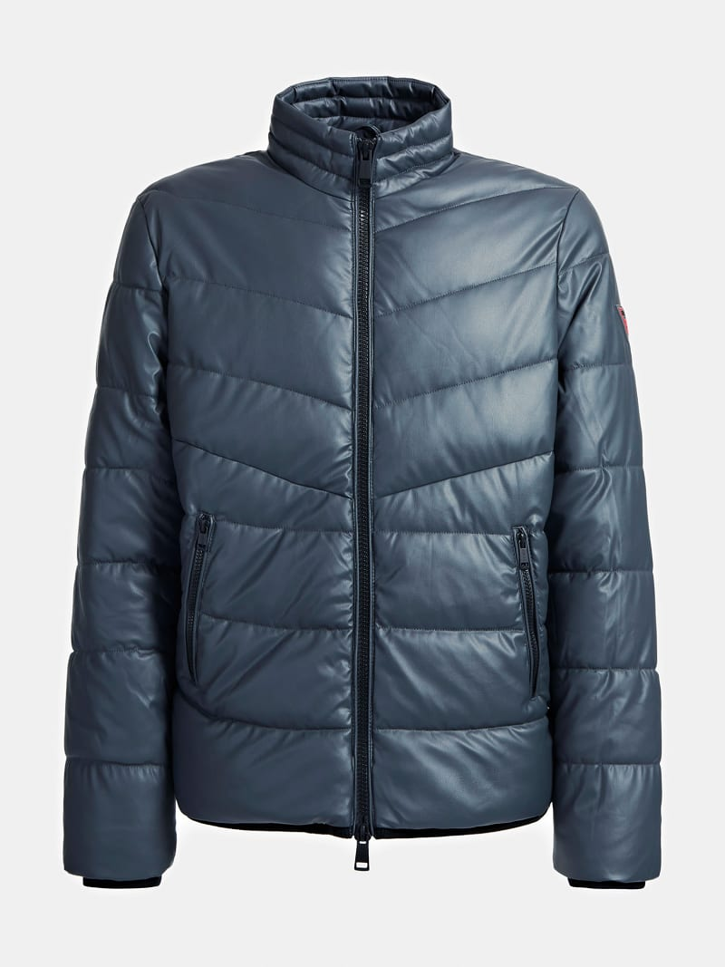 FAUX LEATHER PUFFER image number 3