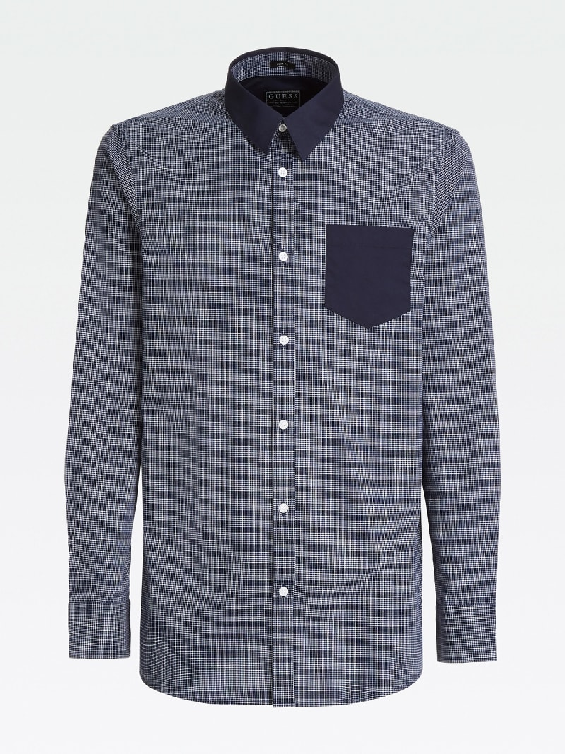 CONTRAST FABRIC SHIRT image number 3
