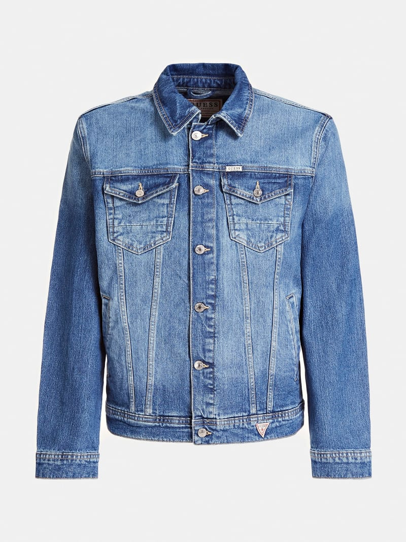 SLIM FIT DENIM JACKET image number 3