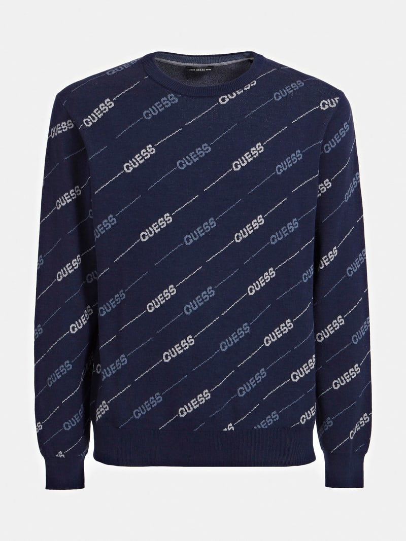 JACQUARD ALL OVER LOGO SWEATER image number 3