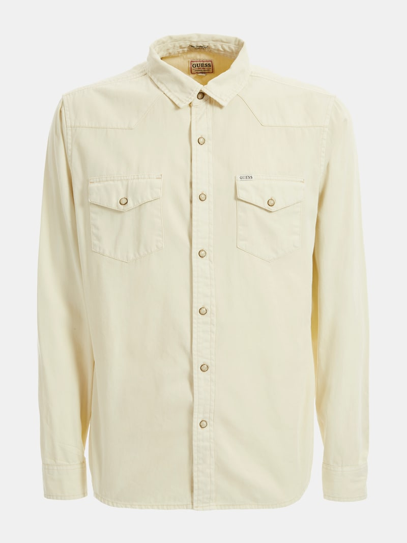 SLIM DENIM SHIRT  image number 4