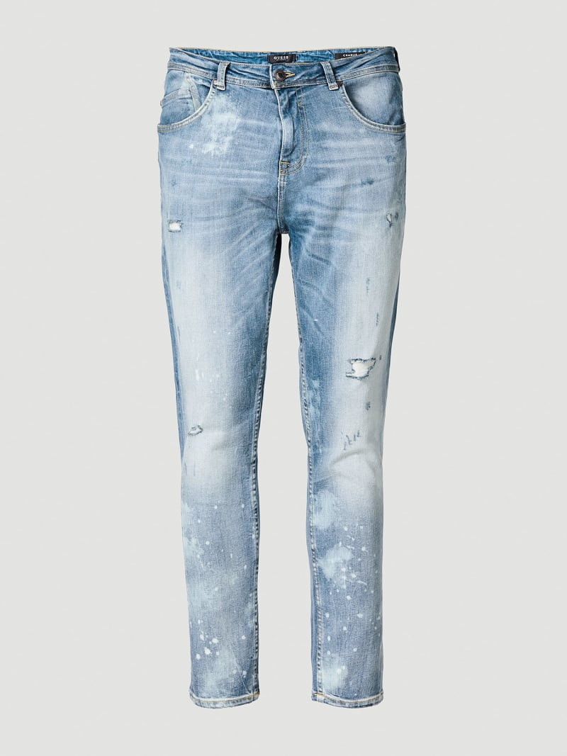 REGULAR JEANS WITH ABRASIONS image number 3