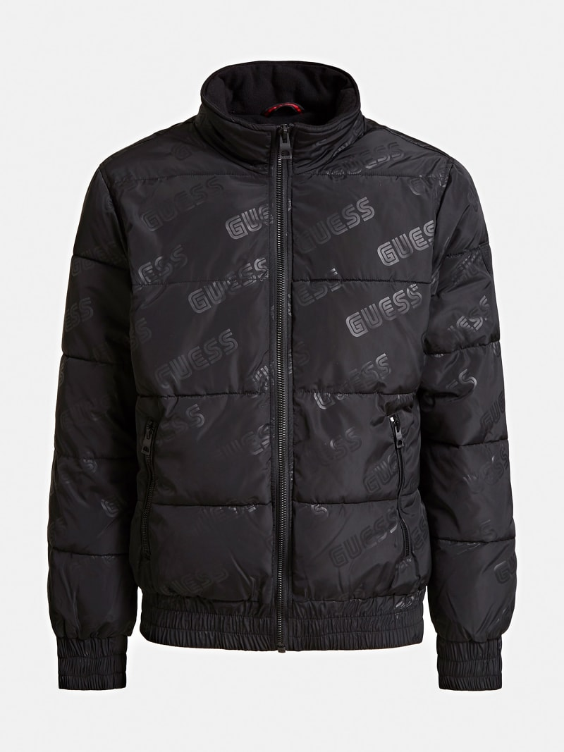 QUILTED-LOOK JACKET WITH LOGO image number 3