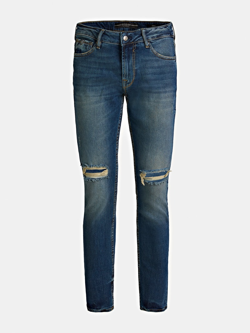 RIPPED DENIM JEANS image number 5
