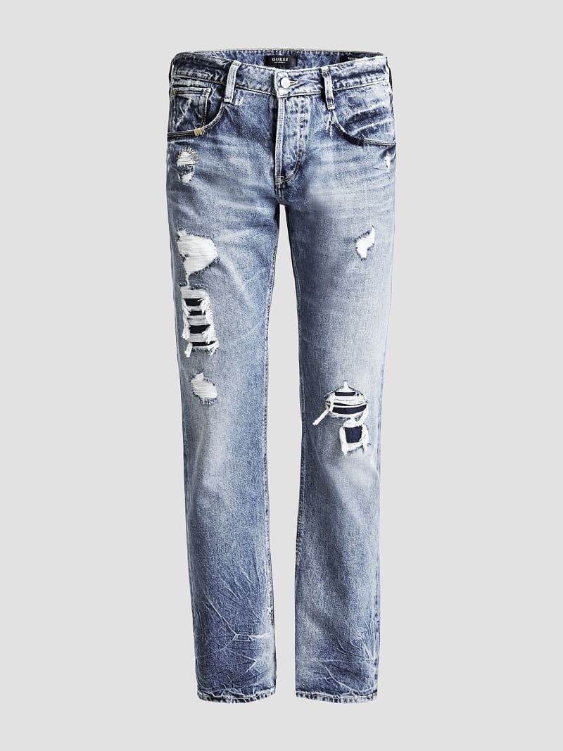 LOW-RISE SLIM JEANS image number 3