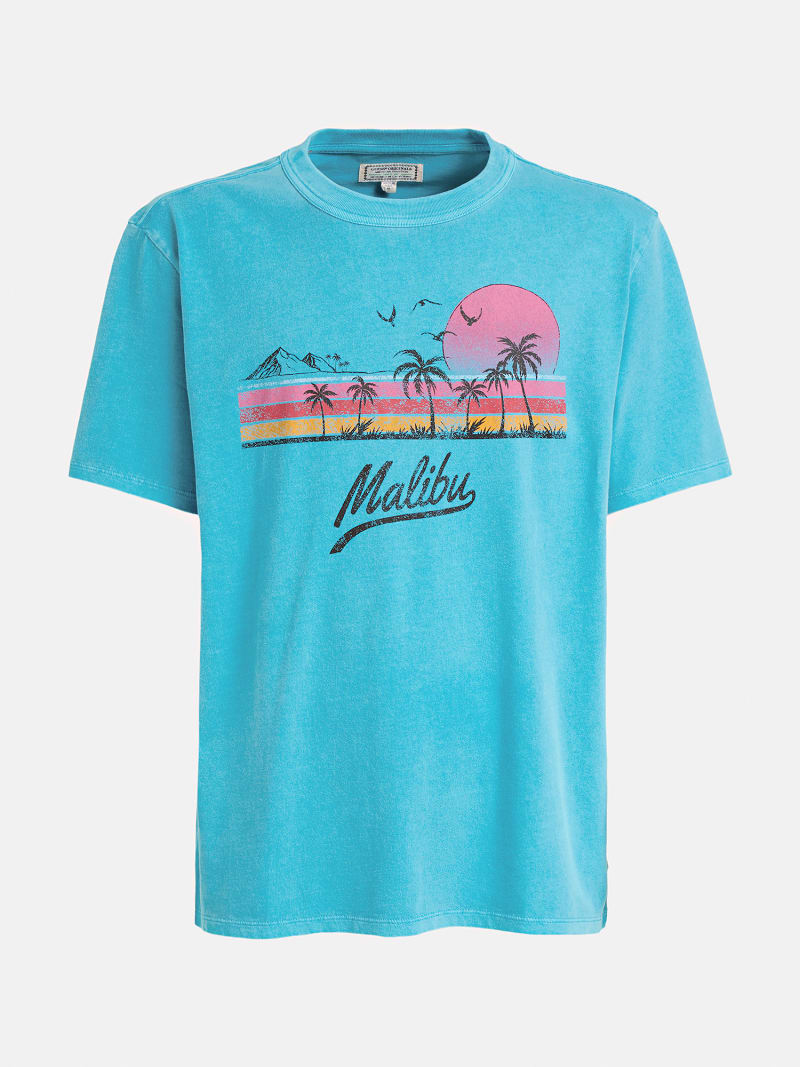 T-SHIRT WITH MALIBÙ PRINT image number 3