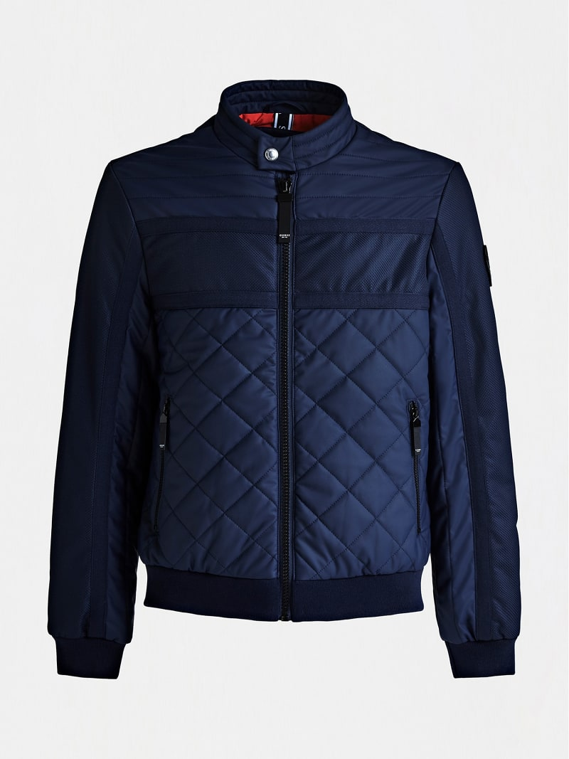 QUILTED-LOOK PADDED JACKET image number 3